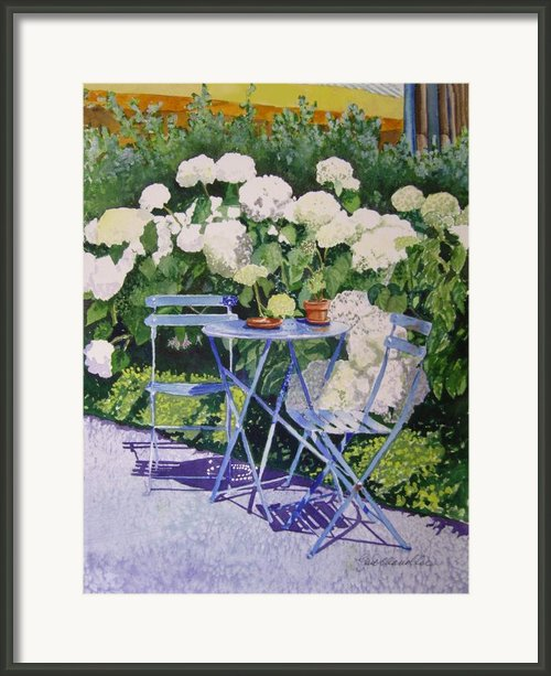 Hydrangeas At Angele Framed Print By Gail Chandler