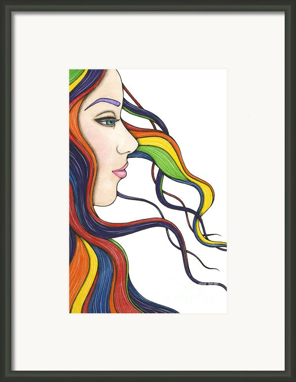 I Am My Own Rainbow Framed Print By Nora Blansett