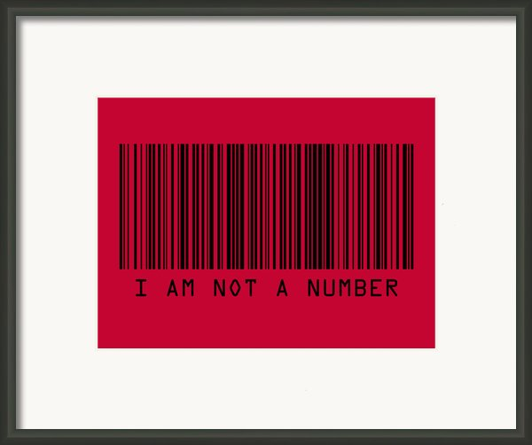 I Am Not A Number Framed Print By Michael Tompsett