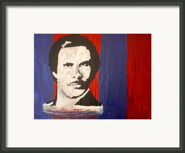 I Am Ron Burgundy Framed Print By April Brosemann