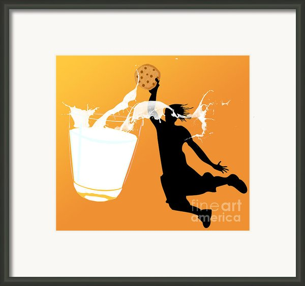 I Can Dunk Framed Print By Laura Brightwood