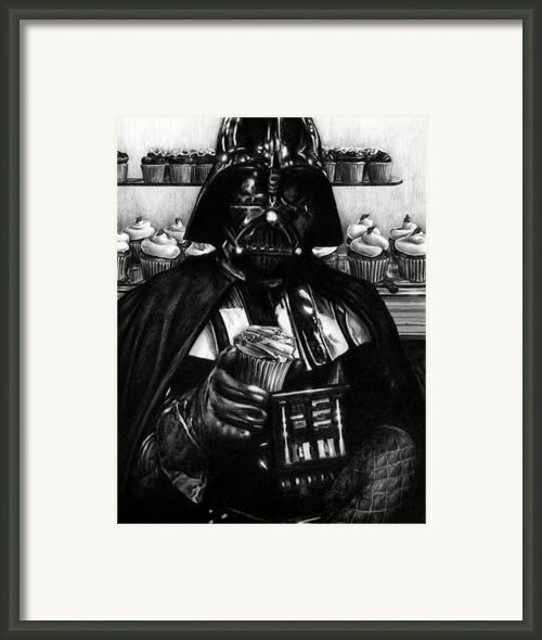 I Find Your Lack Of Hunger Disturbing - Darth Vader  Framed Print By Ryan Jones