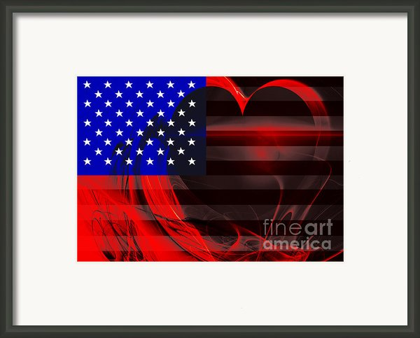 I Love America Framed Print By Wingsdomain Art And Photography
