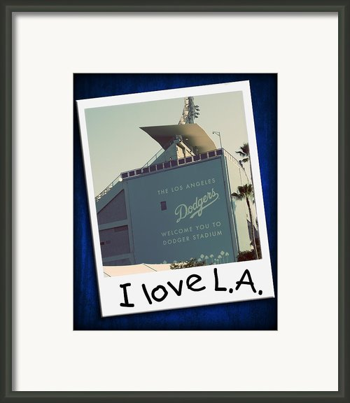 I Love La Framed Print By Ricky Barnard