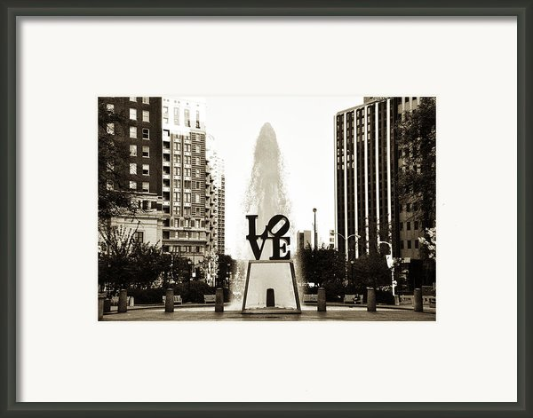 I Love Philadelphia Framed Print By Bill Cannon