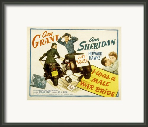 I Was A Male War Bride, Cary Grant, Ann Framed Print By Everett