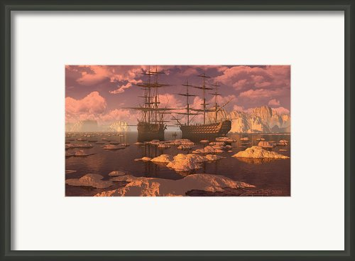 Ice Accord Framed Print By Dieter Carlton