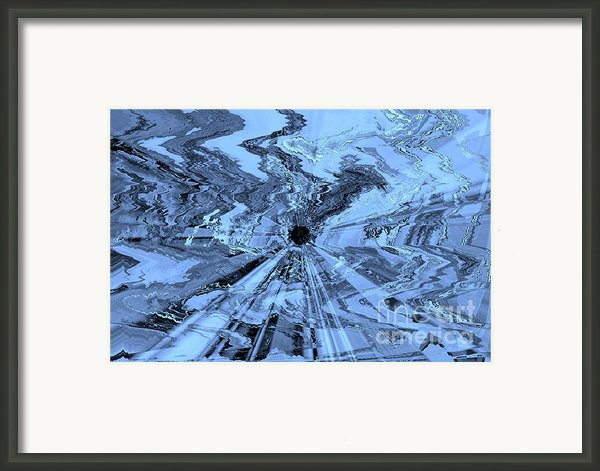 Ice Blue - Abstract Art Framed Print By Carol Groenen