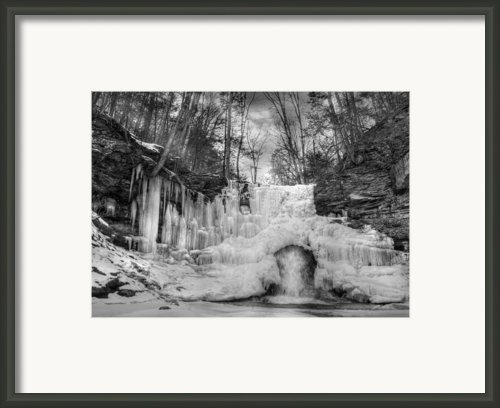 Ice Castle Framed Print By Lori Deiter