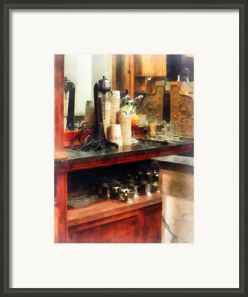 Ice Cream Parlor Framed Print By Susan Savad