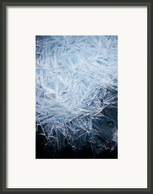 Ice Crystal Patterns Framed Print By Skye Hohmann