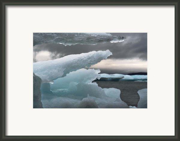 Ice Drama Framed Print By Elisabeth Van Eyken
