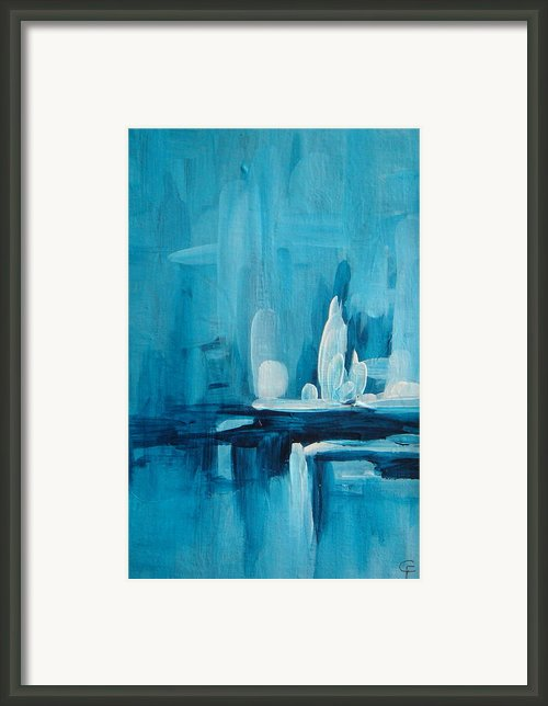 Ice Fantasy Framed Print By Celeste Friesen