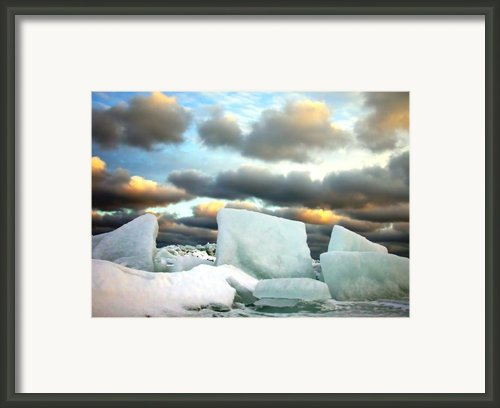 Ice Henge Framed Print By David April