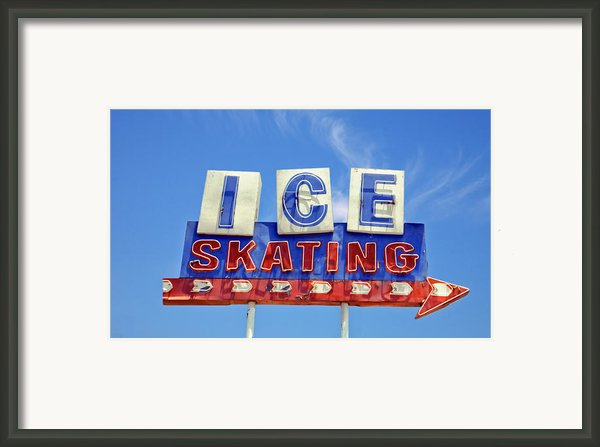 Ice Skating Framed Print By Matthew Bamberg