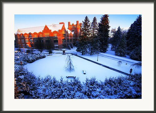 Idaho Administration Building Framed Print By University Of Idaho Photographic Services