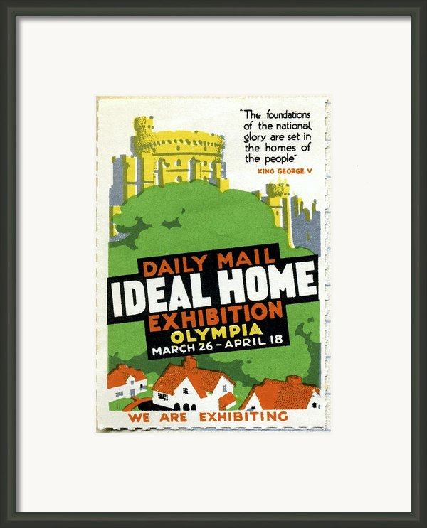Ideal Home Exhibition Stamp, 1920 Framed Print By Cci Archives