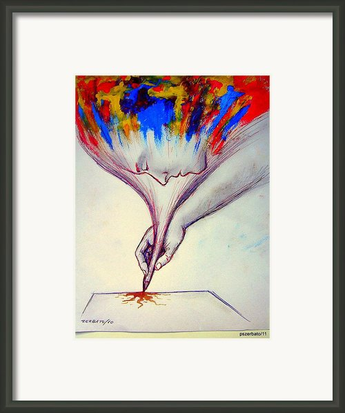 Ideas In Images 2 Framed Print By Paulo Zerbato