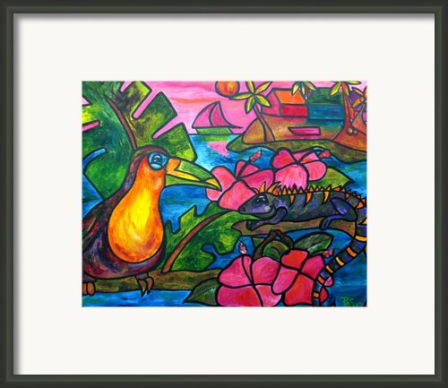 Iguana Eco Tour Framed Print By Patti Schermerhorn