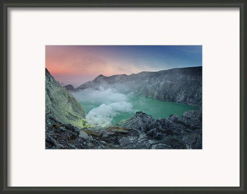 Ijen Crater Framed Print By Alexey Galyzin