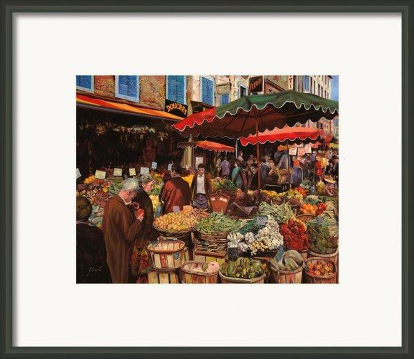 Il Mercato Di Quartiere Framed Print By Guido Borelli