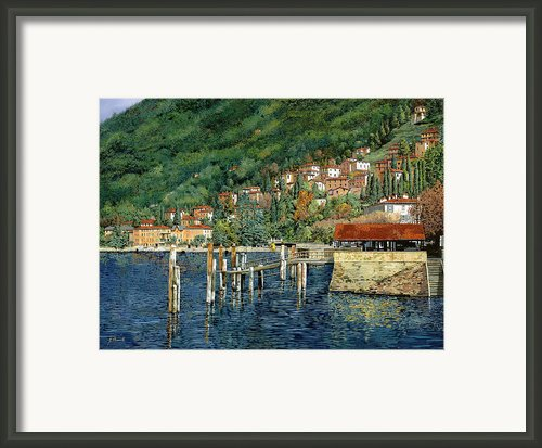 Il Porto Di Bellano Framed Print By Guido Borelli