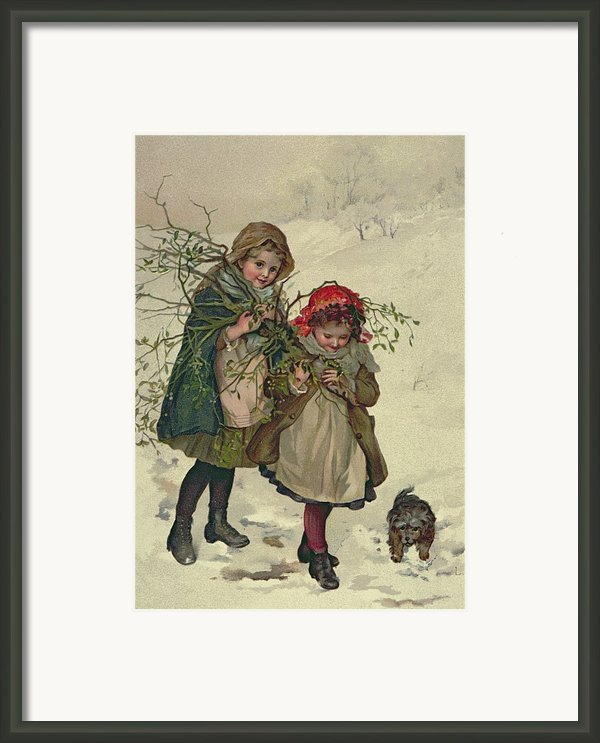 Illustration From Christmas Tree Fairy Framed Print By Lizzie Mack
