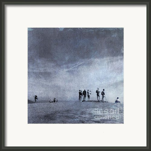 Illustration Of Tourist On Holiday Framed Print By Bernard Jaubert