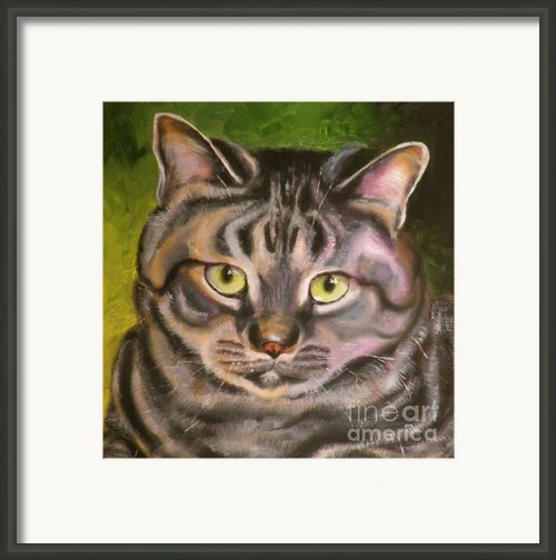 Im Your Man Tabby Framed Print By Susan A Becker