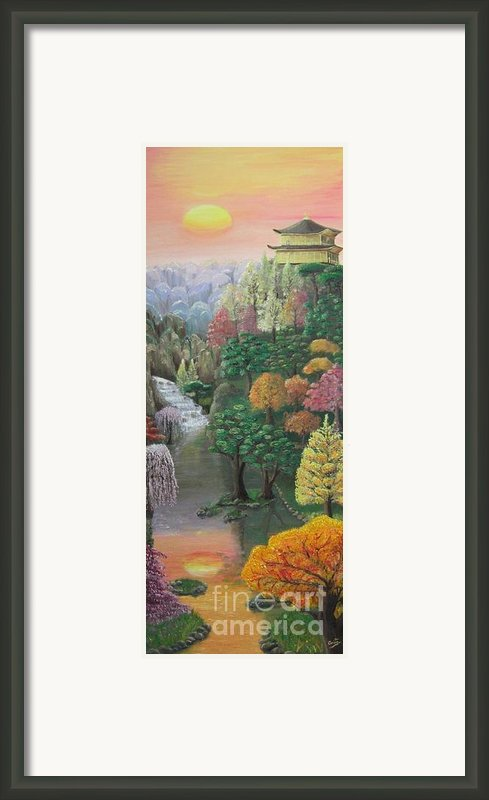 Imagined Autumn In Japan Framed Print By Ana Maria  Garcia Ruiz