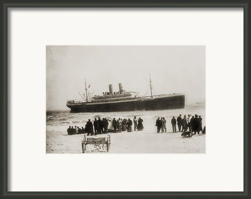 Immigrant Ship From Italy, The Princess Framed Print By Everett