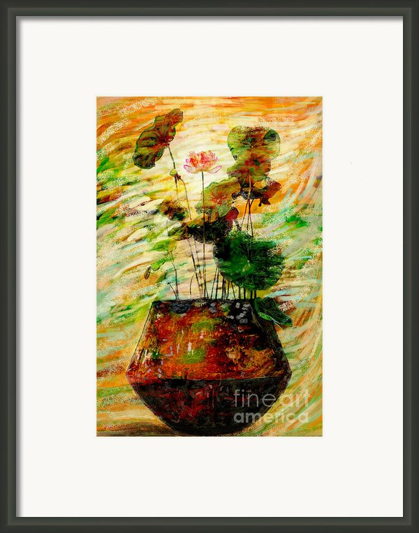 Impression In Lotus Tree Framed Print By Atiketta Sangasaeng
