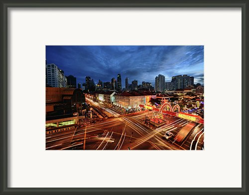 Impressive Water Dragon On Street Framed Print By Andrew Jk Tan