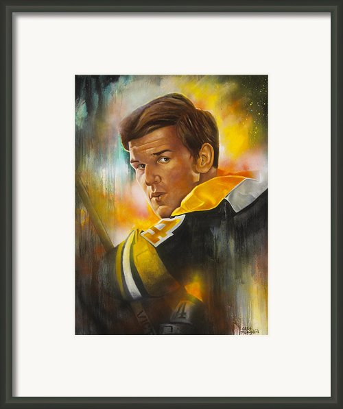 In A League Of His Own Framed Print By Gary Mclaughlin