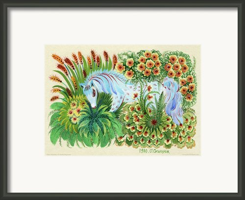 In Fragrant Herbs Framed Print By Olena Kulyk