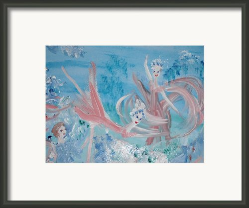 In My Dreams Im Dancing Framed Print By Judith Desrosiers