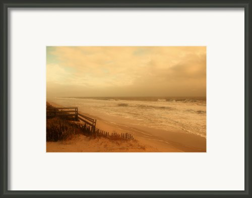 In My Dreams The Ocean Sings - Jersey Shore Framed Print By Angie Mckenzie