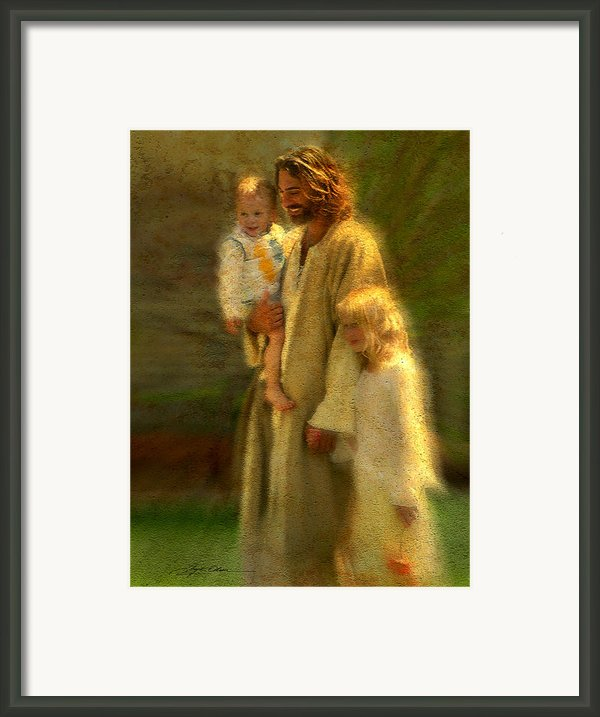 In The Arms Of His Love Framed Print By Greg Olsen