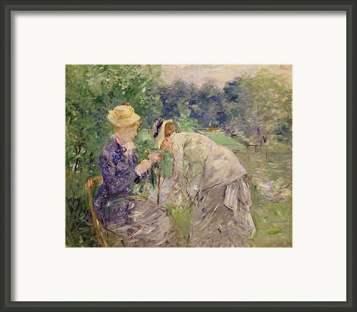 In The Bois De Boulogne Framed Print By Berthe Morisot