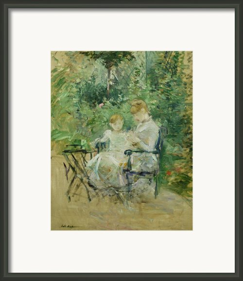 In The Garden Framed Print By Berthe Morisot