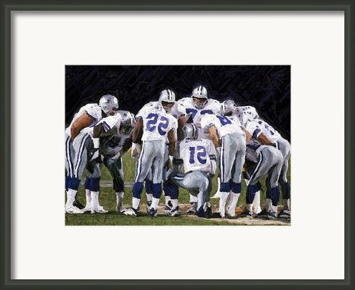 In The Huddle Framed Print By Carrie Obrien Sibley