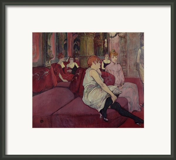 In The Salon At The Rue Des Moulins Framed Print By Henri De Toulouse-lautrec
