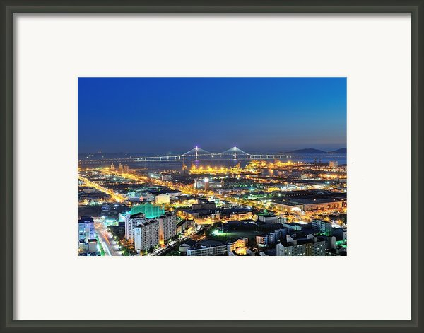 Incheon City Framed Print By Tokism