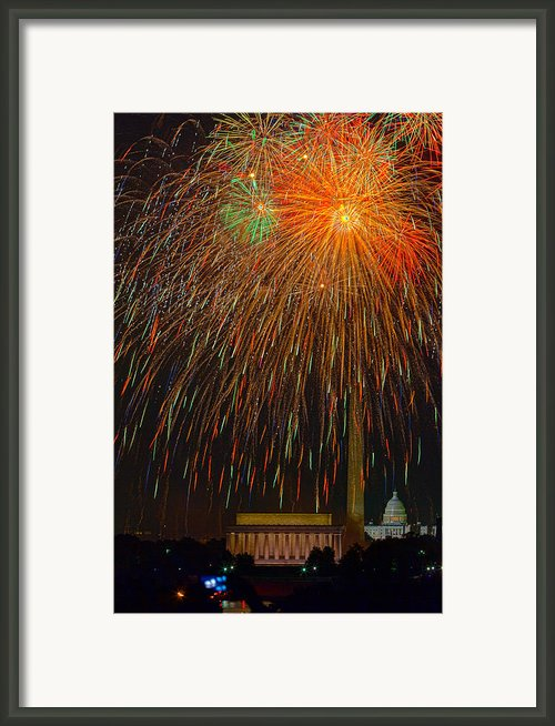 Independence Day In Dc 3 Framed Print By David Hahn