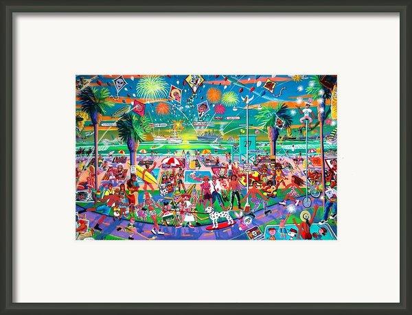 Independence Day Venice Style Framed Print By Frank Strasser
