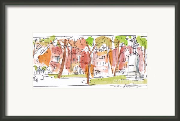 Independence Park Philadelphia Framed Print By Marilyn Macgregor