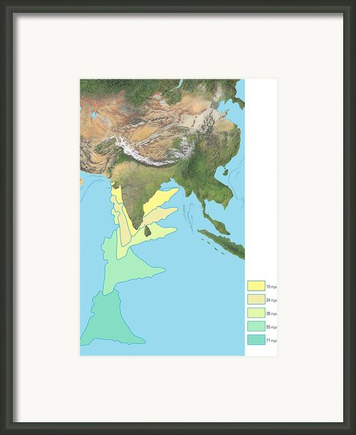 India Docking With Asia, Artwork Framed Print By Gary Hincks