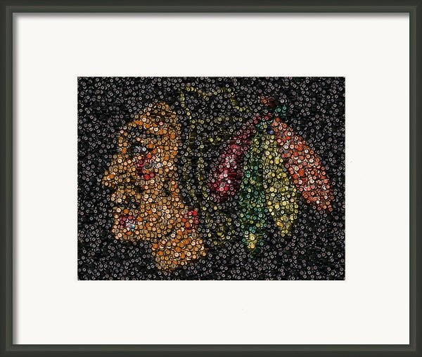 Indian Hockey Puck Mosaic Framed Print By Paul Van Scott
