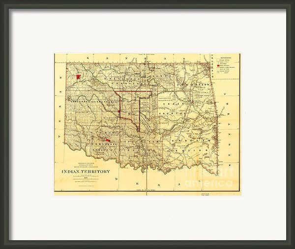 Indian Territory Framed Print By Pg Reproductions