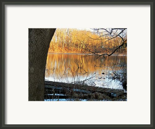 Indiana Dock Framed Print By Joyce  Kimble Smith